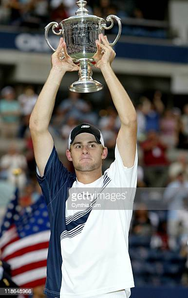 Andy Roddick wins US Open title with 3 set victory over Juan Carlos Ferrero 6/3 7/6 6/3