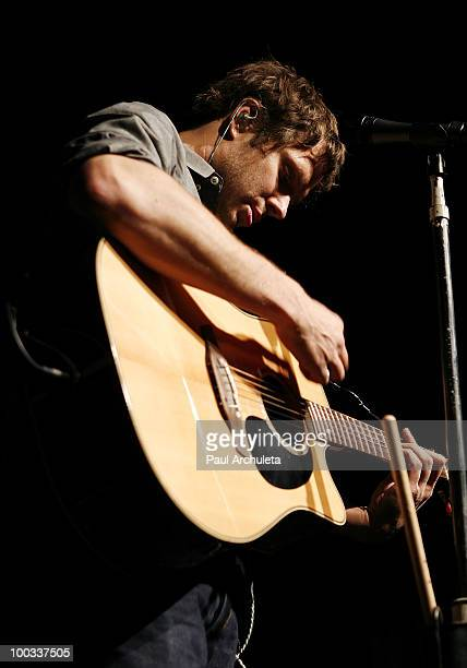 Andy Ross of OK Go performs a sound check for the LA Recording Academy and GRAMMY Foundation at The Music Box at the Fonda Hollywood on May 21 2010...