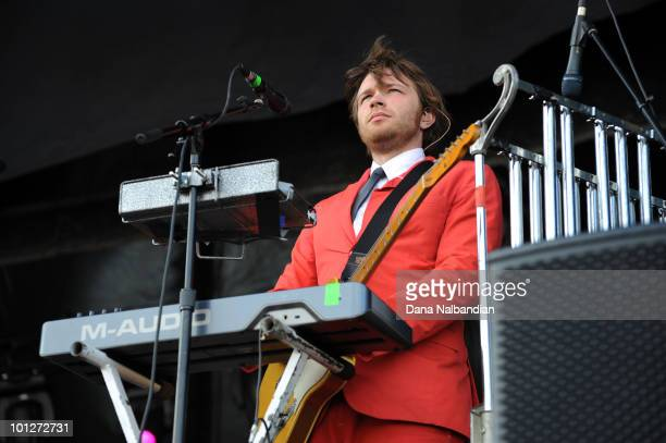 Andy Ross of OK GO performs at Sasquatch Festival at the Gorge Amphitheater on May 29 2010 in George Washington