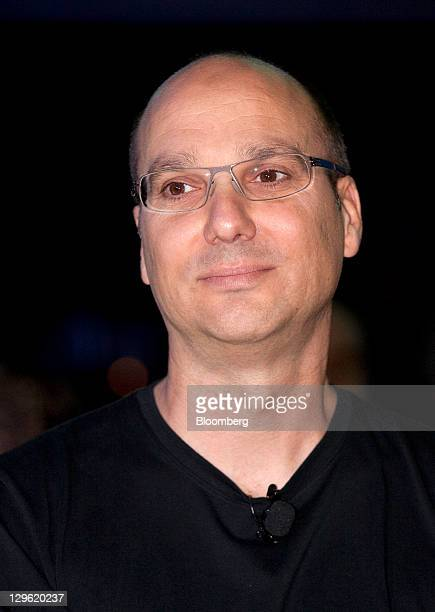 Andy Rubin senior vicepresident of Google Inc's mobile division attends the launch event for the Samsung Electronics Co Galaxy Nexus smartphone...