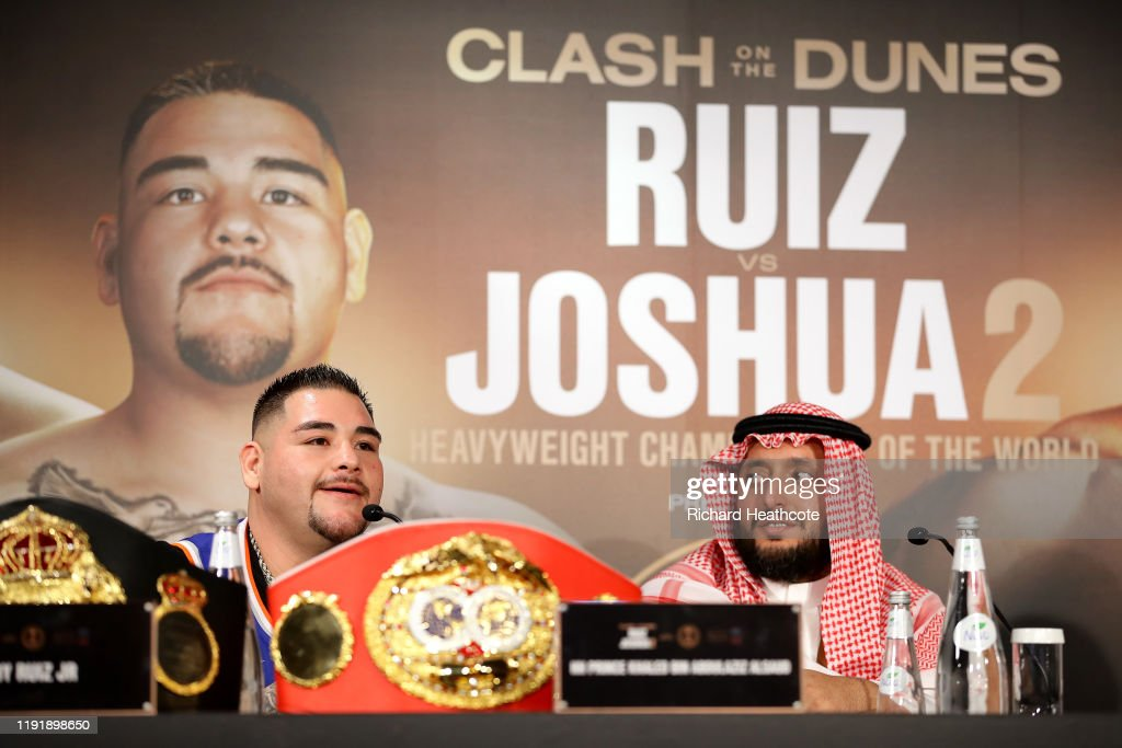 Andy Ruiz Jr v Anthony Joshua 2 - Final Press Conference : News Photo