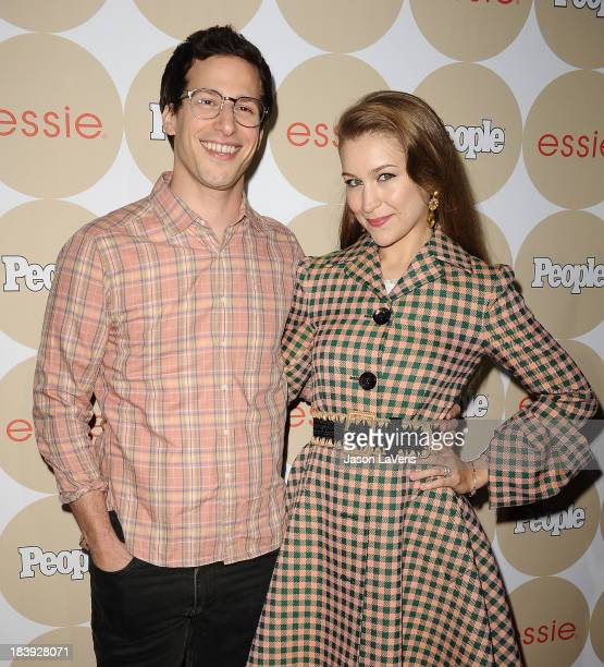 Andy Samberg and Joanna Newsom attend People's Ones To Watch party at Hinoki the Bird on October 9 2013 in Los Angeles California