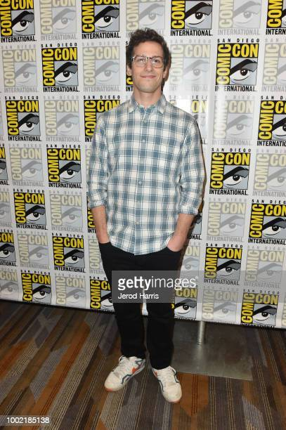 Andy Samberg attends 'Brooklyn NineNine' Press Line during ComicCon International 2018 at Hilton Bayfront on July 19 2018 in San Diego California