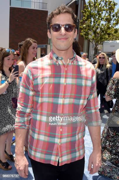 Andy Samberg attends the Columbia Pictures and Sony Pictures Animation's world premiere of 'Hotel Transylvania 3 Summer Vacation' at Regency Village...