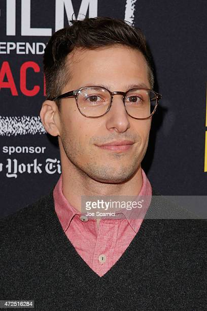 Andy Samberg attends the Film Independent Presents An Evening WithBrooklyn NineNine at LACMA on May 7 2015 in Los Angeles California