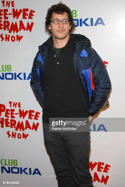 Andy Samberg attends The Pee Wee Herman Show Opening Night at Club Nokia on January 20 2010 in Los Angeles California