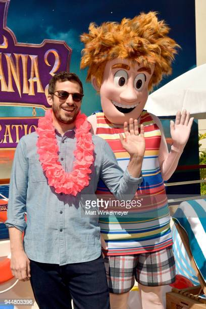 Andy Samberg attends the photo call for Sony Pictures' 'Hotel Transylvania 3 Summer Vacation' at Sony Pictures Studios on April 11 2018 in Culver...