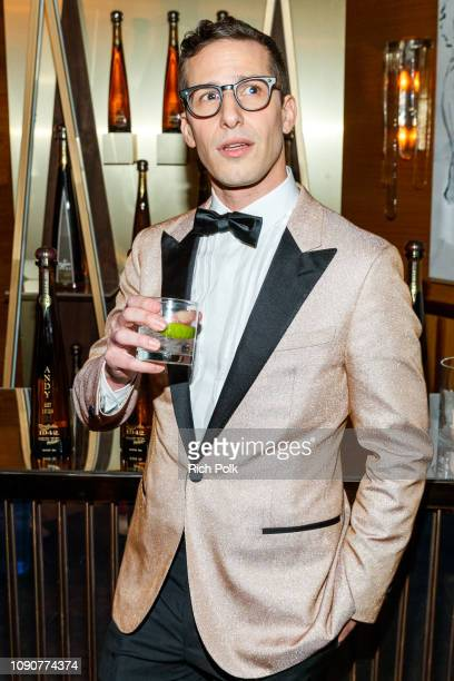 Andy Samberg Celebrates with Tequila Don Julio 1942 at their private Golden Globes AfterParty on Sunday January 6 2019 in West Hollywood California