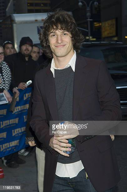 """Andy Samberg during Kiefer Sutherland, Alicia Keys and Andy Samberg Visit the """"Late Show with David Letterman"""" - January 12, 2006 at Ed Sullivan..."""