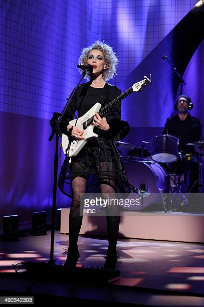 LIVE Andy Samberg Episode 1662 Pictured Musical guest St Vincent performs on May 17 2014