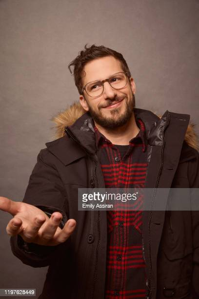 Andy Samberg from Palm Springs pose for a portrait at the Pizza Hut Lounge on January 25, 2020 in Park City, Utah.