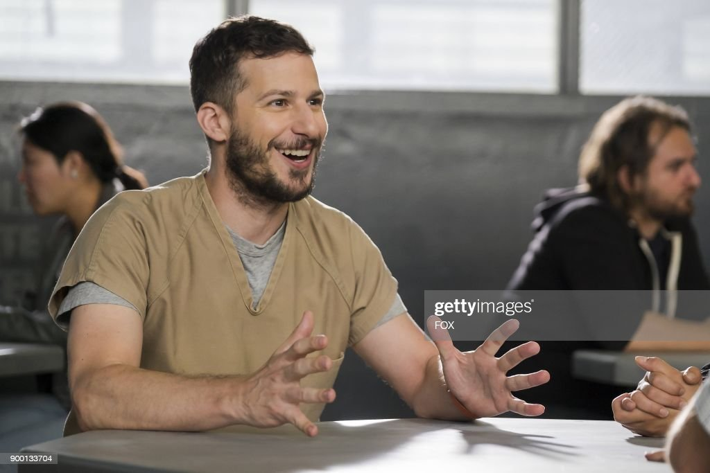 Andy Samberg in the The Big House Pt.1 Season Five premiere episode of BROOKLYN NINE-NINE airing Tuesday, Sept. 26 (9:30-10:00 PM ET/PT) on FOX.
