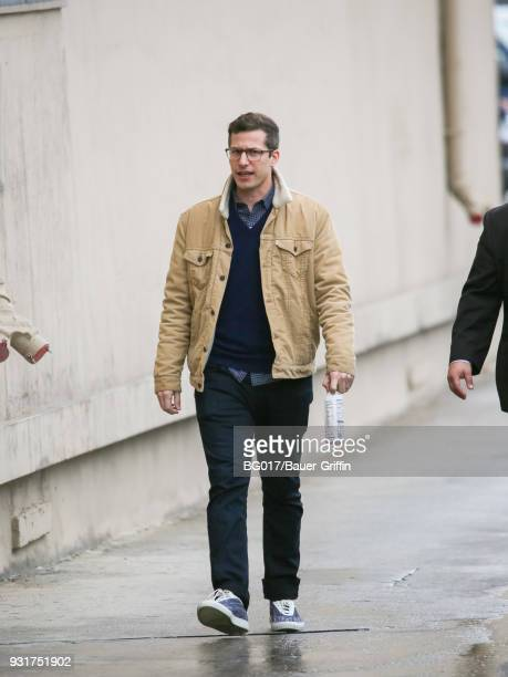 Andy Samberg is seen arriving at 'Jimmy Kimmel Live' on March 13 2018 in Los Angeles California
