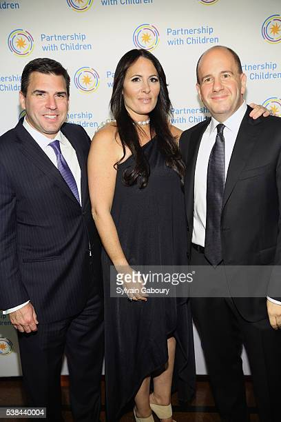 Andy Saperstein Dr Kelly Posner Gerstenhaber and David Cohen attend the Partnership with Children's Spring Gala 2016 at 583 Park Avenue on June 6...