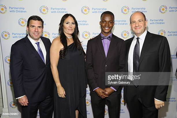 Andy Saperstein Dr Kelly Posner Gerstenhaber Sekenya Anderson and David Cohen attend the Partnership with Children's Spring Gala 2016 at 583 Park...