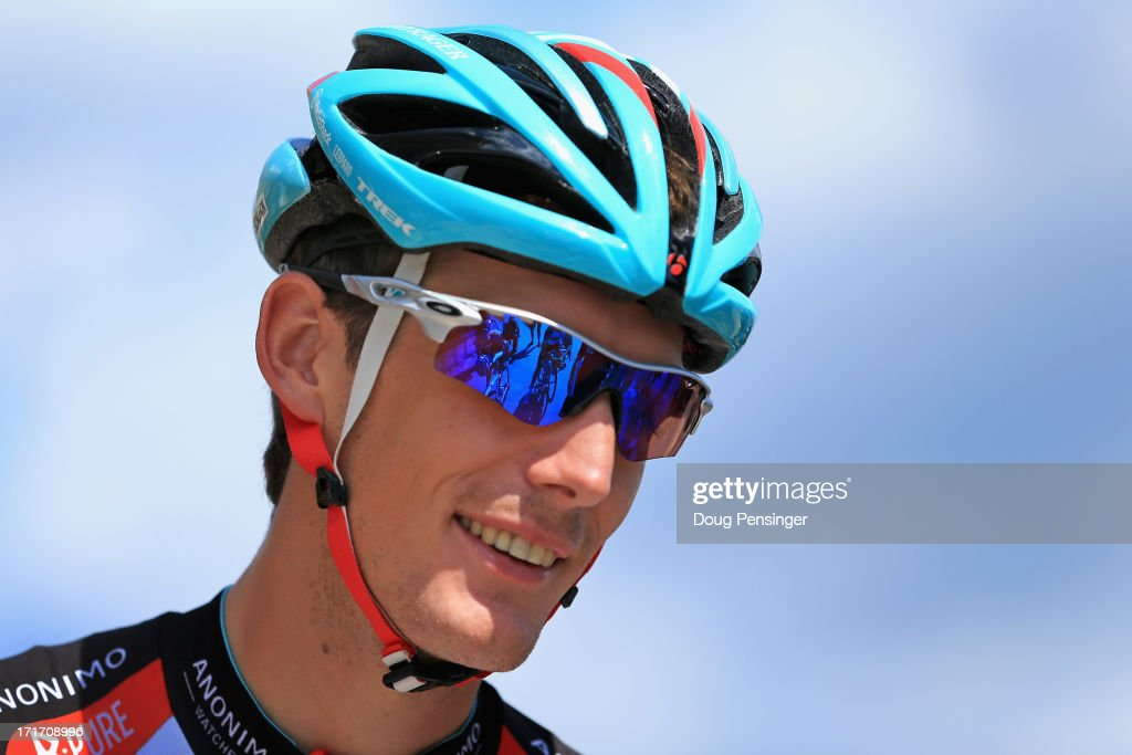 Andy Schleck of Luxembourg riding for Radioshack Leopard prepares for a training ride on the eve of the 2013 Tour de France on June 28, 2013 in Porto Vecchio, France. The 100th edition of Le Tour de France begins in Porto Vecchio on the island of Corsica and ends July 21 in Paris.