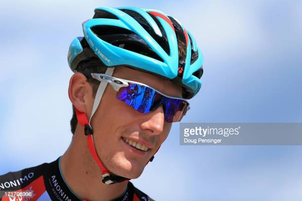 Andy Schleck of Luxembourg riding for Radioshack Leopard prepares for a training ride on the eve of the 2013 Tour de France on June 28, 2013 in Porto...
