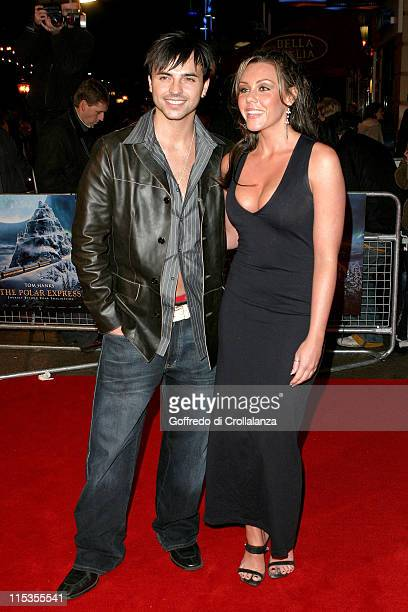 Andy Scott Lee and Michelle Heaton during 'The Polar Express' London Premiere Arrivals at Vue Cinema Leicester Square in London Great Britain