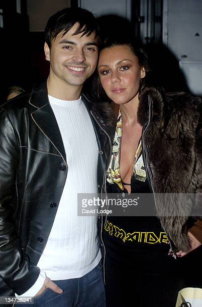 Andy ScottLee and Michelle Heaton during Liberty X and Friends Switch On the Lakeside Christmas Lights at Lakeside in Thurrock Great Britain