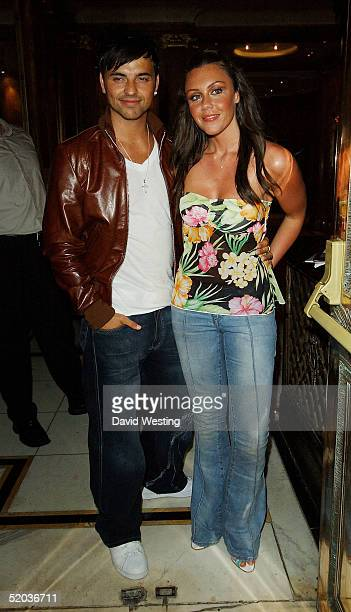Andy ScottLee and Michelle Heaton leave the 'Entertainers In Support Of The British Tsunami Victims' charity evening at Elysium on January 19 2005 in...