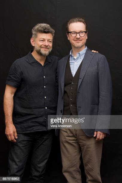 Andy Serkis and director Matt Reeves at the War for the Planet of the Apes Press Conference at the SoHo Hotel on June 18 2017 in London England