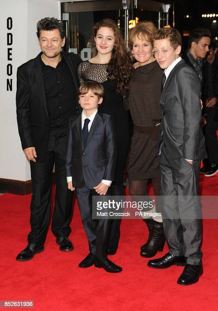 Andy Serkis and Family arriving for the World Premiere of The Hunger Games Catching Fire at the Odeon Leicester Square London