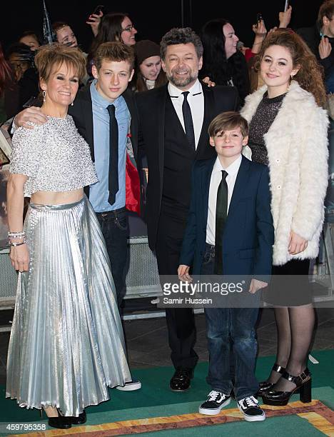 Andy Serkis and family attend the World Premiere of 'The Hobbit The Battle OF The Five Armies' at Odeon Leicester Square on December 1 2014 in London...