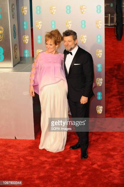 Andy Serkis and guest attends the EE British Academy Film Awards at the Royal Albert Hall in Kensington London