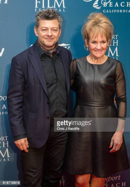 Andy Serkis and his wife attends the 'Newport Beach Film Festival' annual UK honours at The Rosewood Hotel on February 15 2018 in London England