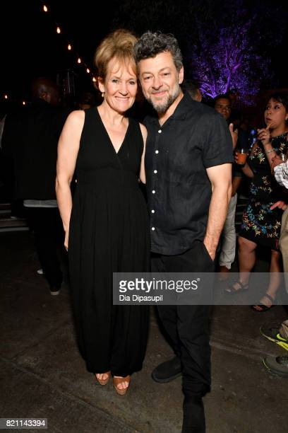 Andy Serkis and Lorraine Ashbourne at Entertainment Weekly's annual ComicCon party in celebration of ComicCon 2017 at Float at Hard Rock Hotel San...