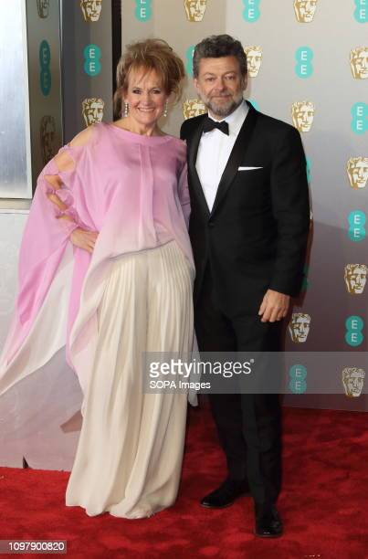 Andy Serkis and Lorraine Ashbourne at the EE British Academy Film Awards at the Royal Albert Hall Kensington