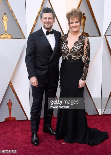 Andy Serkis and Lorraine Ashbourne attend the 90th Annual Academy Awards at Hollywood Highland Center on March 4 2018 in Hollywood California