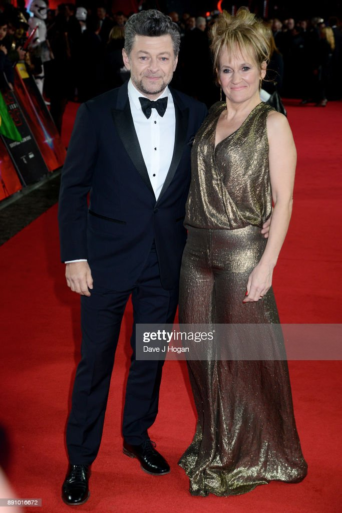 Andy Serkis (L) and Lorraine Ashbourne attend the European Premiere of 'Star Wars: The Last Jedi' at Royal Albert Hall on December 12, 2017 in London, England.