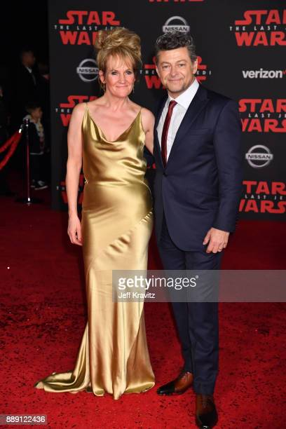 Andy Serkis and Lorraine Ashbourne attend the premiere of Disney Pictures and Lucasfilm's 'Star Wars The Last Jedi' at The Shrine Auditorium on...