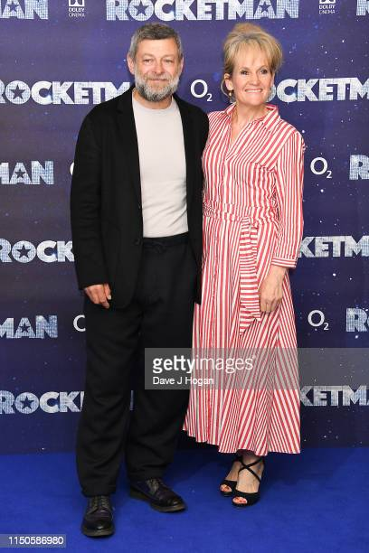 "Andy Serkis and Lorraine Ashbourne attend the ""Rocketman"" UK premiere at Odeon Leicester Square on May 20, 2019 in London, England."