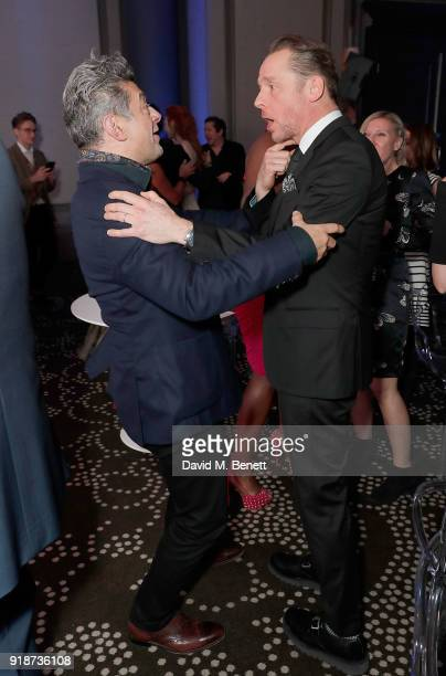 Andy Serkis and Simon Pegg attend the Newport Beach Film Festival UK Honours in association with Visit Newport Beach at The Rosewood Hotel on...
