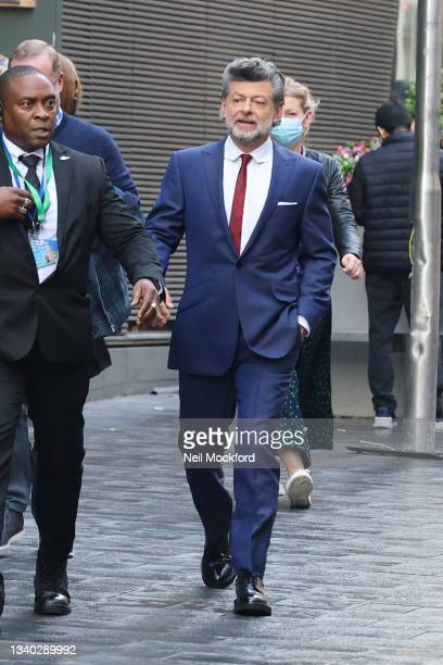 Andy Serkis arriving at Cineworld Leicester Sq on September 14, 2021 in London, England.
