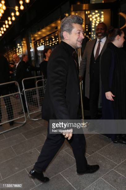 Andy Serkis arriving for the Into Film Awards at Odeon Luxe Leicester Square on March 04 2019 in London England