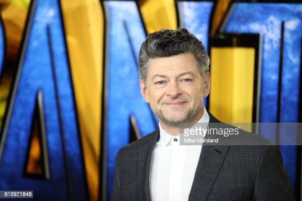 Andy Serkis attends the European Premiere of 'Black Panther' at Eventim Apollo on February 8 2018 in London England