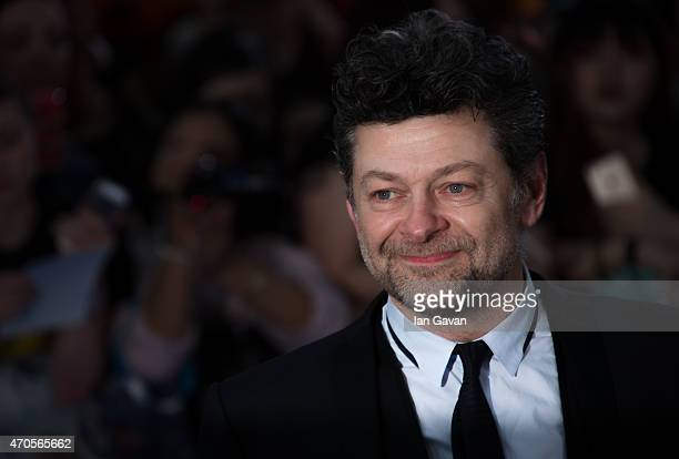 Andy Serkis attends the European premiere of 'The Avengers Age Of Ultron' at Westfield London on April 21 2015 in London England