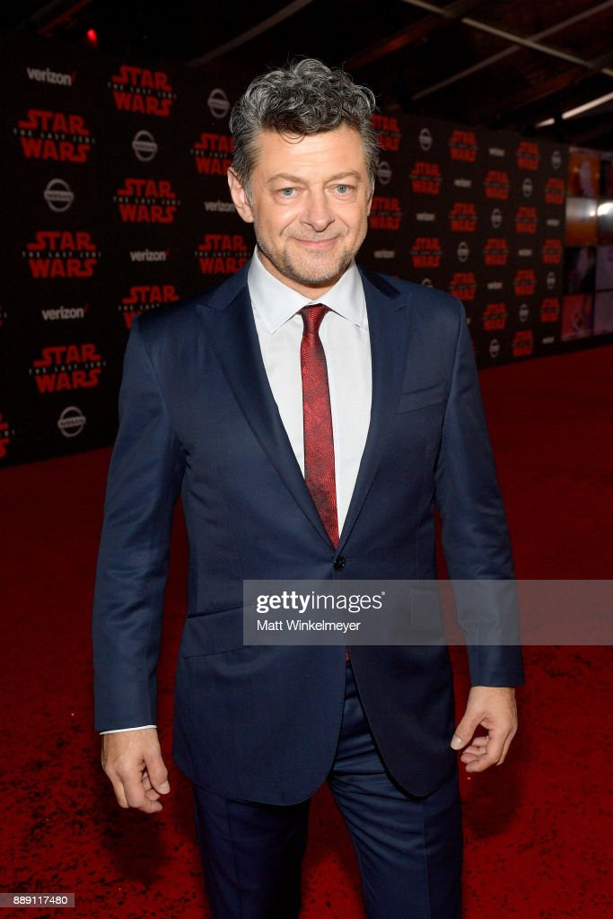 Andy Serkis attends the premiere of Disney Pictures and Lucasfilm's 'Star Wars: The Last Jedi' at The Shrine Auditorium on December 9, 2017 in Los Angeles, California.
