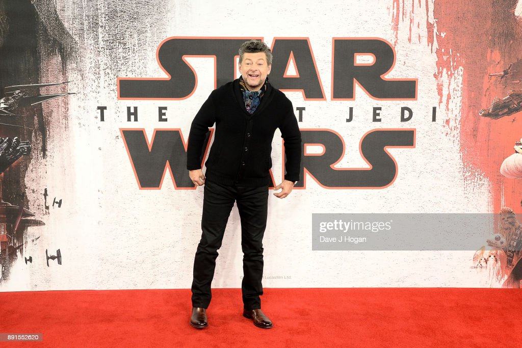 Andy Serkis attends the 'Star Wars: The Last Jedi' photocall at Corinthia Hotel London on December 13, 2017 in London, England.
