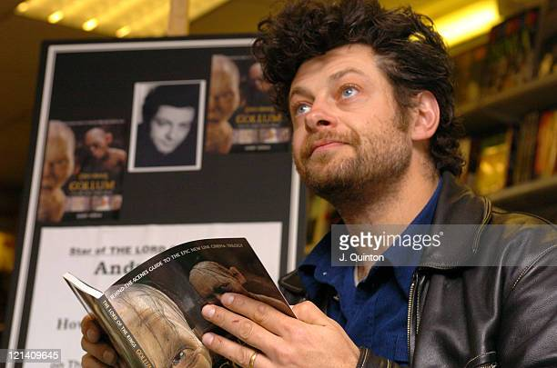 Andy Serkis during Andy Serkis Signs Copies of his New Book 'Gollum How We Made Movie Magic' at Cinema Store in London Great Britain