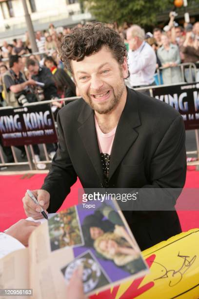 Andy Serkis during 'King Kong' New Zealand Premiere December 14 2005 at Embassy Theatre in Wellington New Zealand
