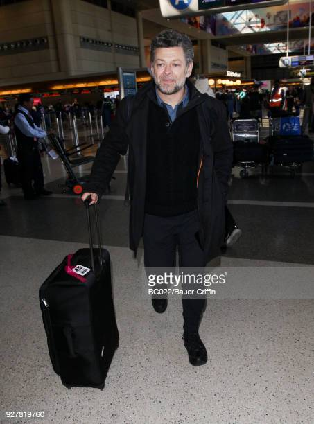 Andy Serkis is seen at LAX on March 05 2018 in Los Angeles California