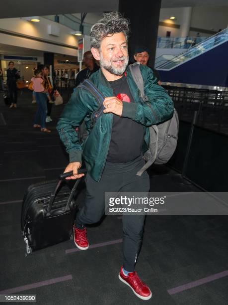 Andy Serkis is seen at Los Angeles International Airport on October 17 2018 in Los Angeles California