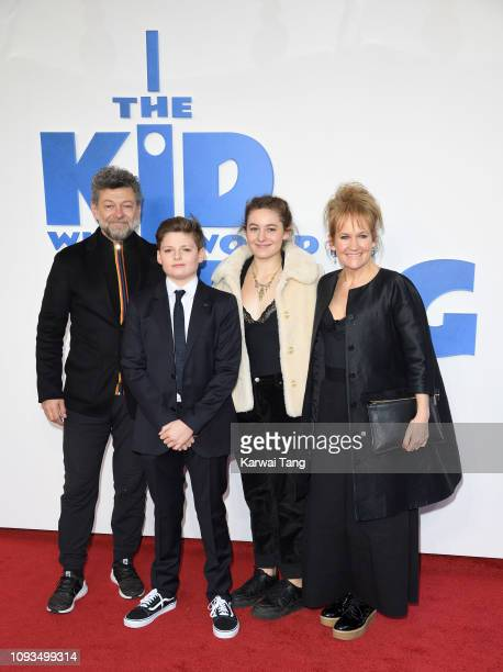 Andy Serkis Louis Ashbourne Serkis Ruby Serkis and Lorraine Ashbourne attend a gala screening of The Kid Who Would Be King held at Odeon Leicester...