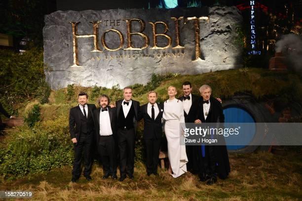 Andy Serkis, Peter Jackson, James Nesbitt, Martin Freeman, Cate Blanchett, Richard Armitage and Sir Ian Mckellen attend a royal film performance of...
