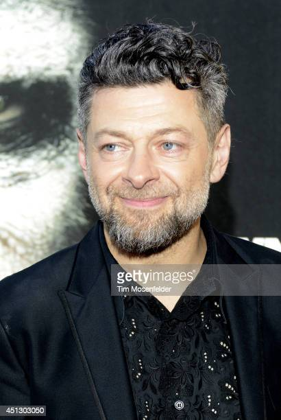 Andy Serkis poses at the premiere of 20th Century Fox's Dawn of the Planet of the Apes at the Palace Of Fine Arts Theater on June 26 2014 in San...