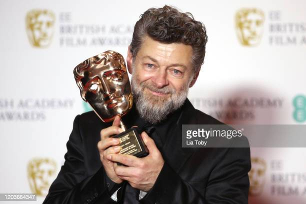 Andy Serkis poses in the Winners Room during the EE British Academy Film Awards 2020 at Royal Albert Hall on February 02, 2020 in London, England.